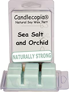 product image for Candlecopia Strongly Scented Hand Poured Vegan Wax Melts, 12 Scented Wax Cubes, 6.4 Ounces in 2 x 6-Packs (Sea Salt & Orchid)