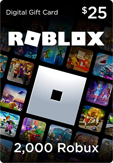 Amazon Com Roblox Gift Card 2 000 Robux Online Game Code Video Games