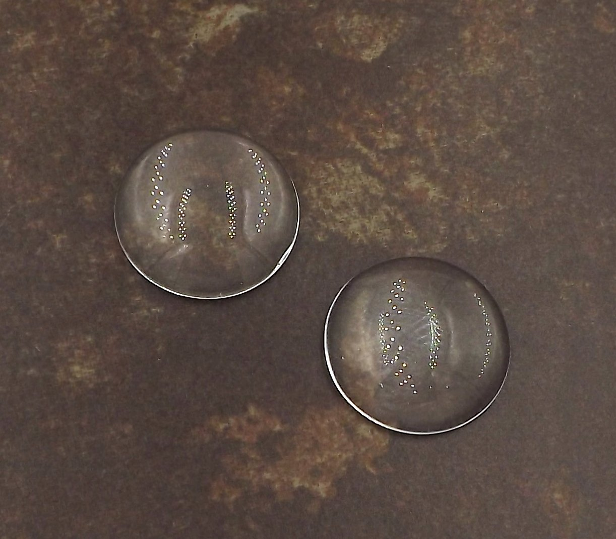 10 Deannas Supply Shop Circle Glass Cabochons Clear Dome Magnifying Cabs 25mm 1 inch 1