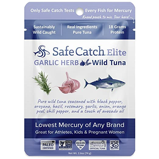 Safe Catch Seasoned Elite Wild Tuna - 12 pack (2 6oz pouch) - Tandoori