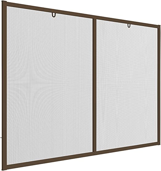 Easy Life Protección contra insectos de ventana XL 150 x 220 cm Mosquitera con marco de aluminio profesional contra insectos ventana sin agujeros individualmente kürzbares mosca Red, marrón, 150 x 220 cm: Amazon.es: Hogar