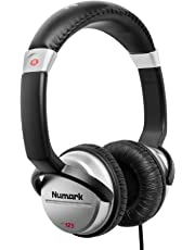 Numark HF125 | Ultra-Portable Professional DJ Headphones With 6ft Cable, 40 mm Drivers for Extended Response & Closed Back Design for Superior Isolation
