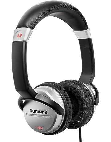 Numark HF125 - Auriculares de DJ Profesionales Ultraportátiles con Cable de 1,8 m,