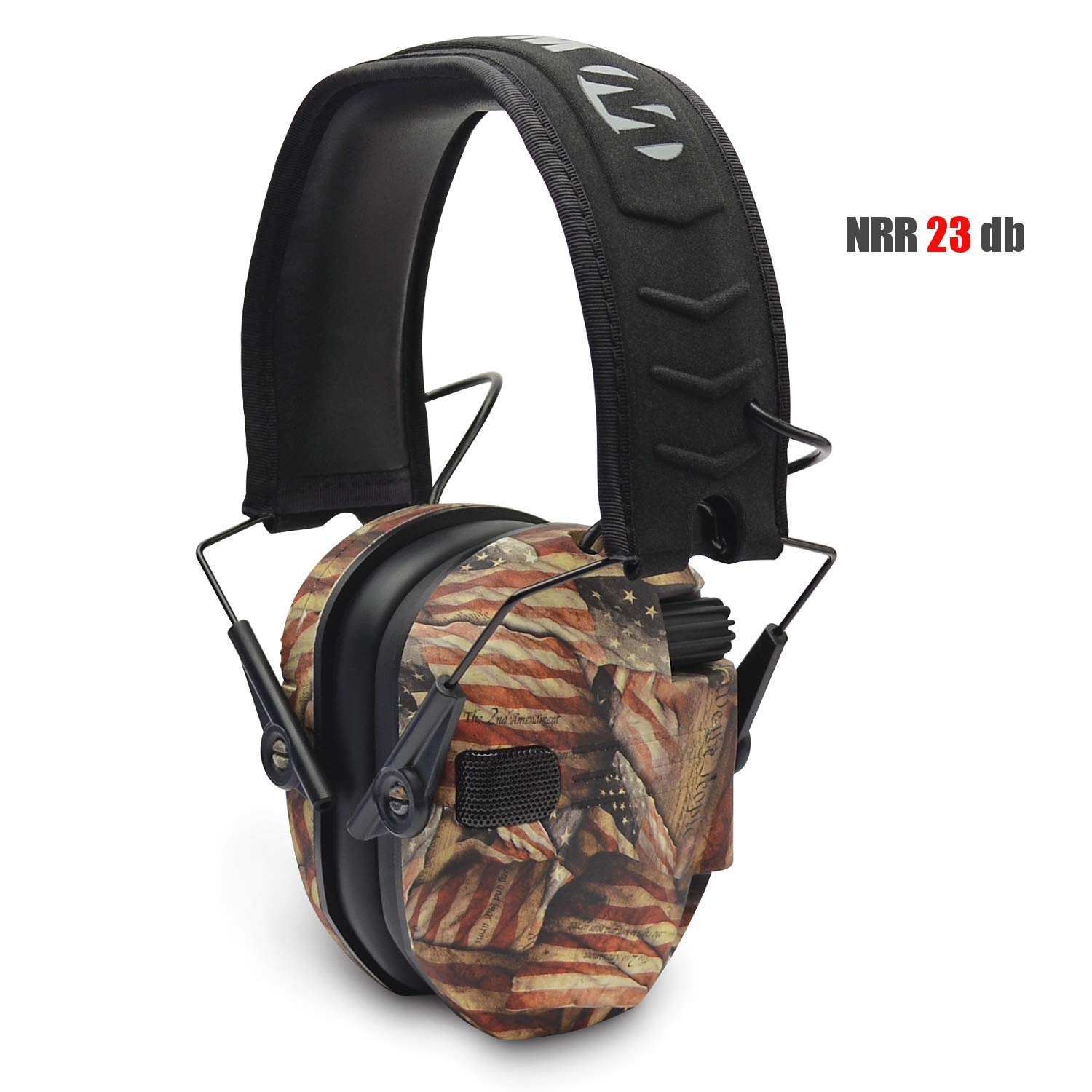 Walker's Patrior Series Electronic Muffs Right to Bear Arms by Walker's Game Ear