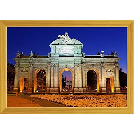 ArtzFolio Night View of Monument Puerta De Alcala Madrid ...