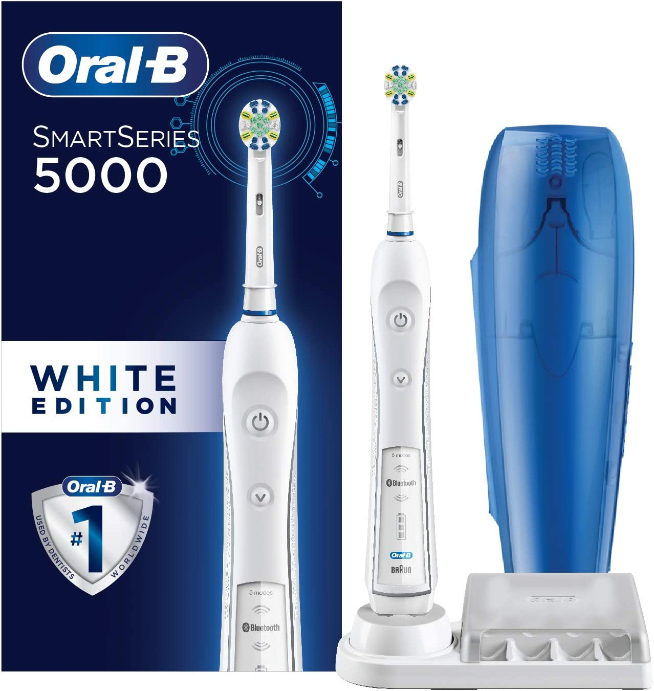 Oral B Oral B Pro 5000 Smartseries Power Rechargeable Electric Toothbrush With Bluetooth Connectivity Powered By Braun