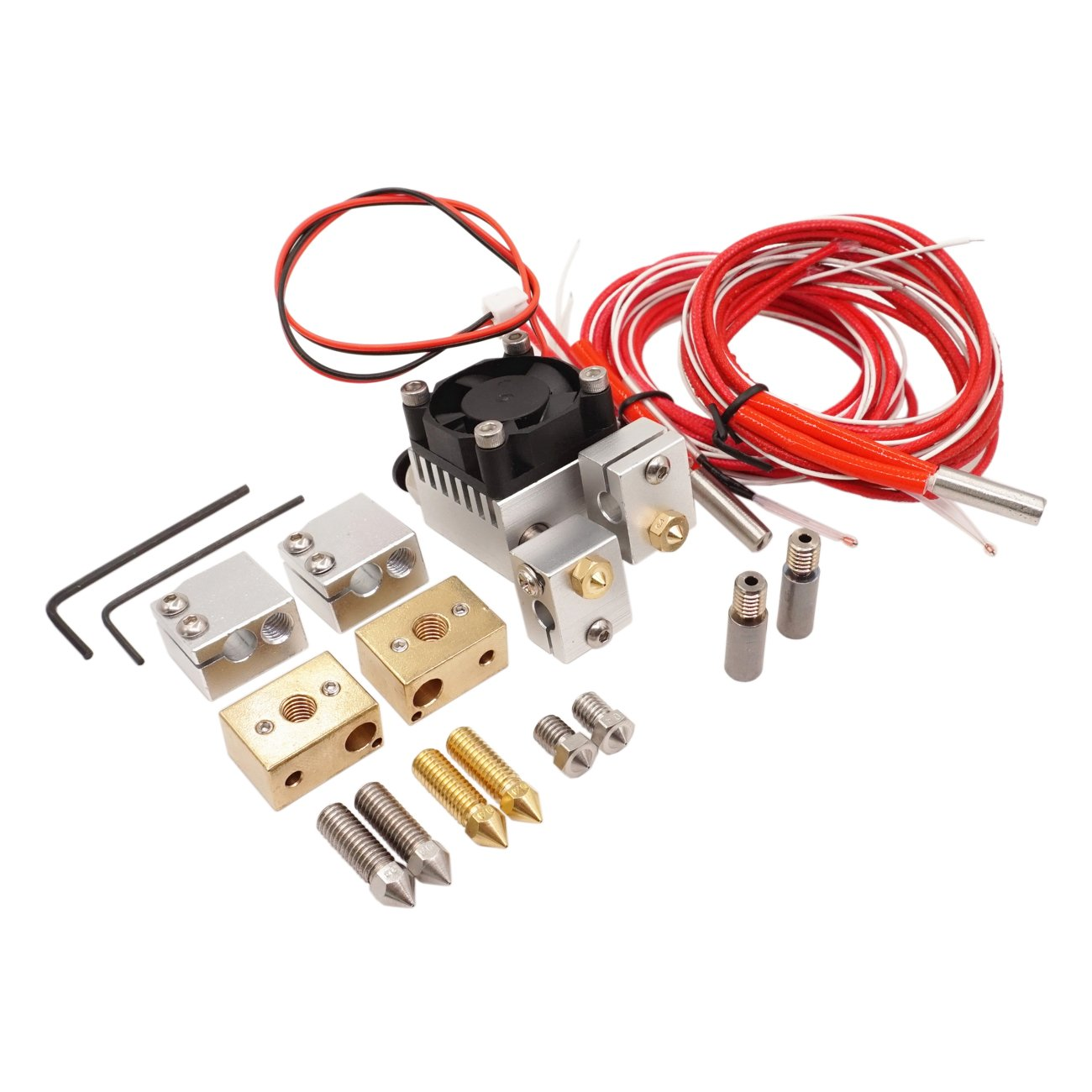 WINSINN Chimera Hotend Extruder Full Kit - High Speed Volcano Upgrade + Sensor Copper heater block 0.4mm Copper & Stainless steel Nozzle For PT100 1.75mm Filament WINSINN Technology Ltd