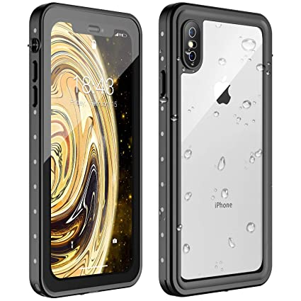 Amazon.com: Nineasy - Carcasa impermeable para iPhone X, 360 ...