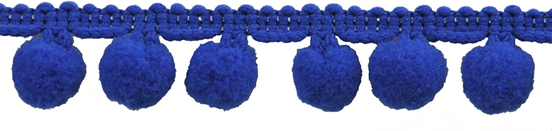 Pompom Fringe 1-Inch Polyester Fringe Rolls for Arts and Crafts 10-Yard Navy