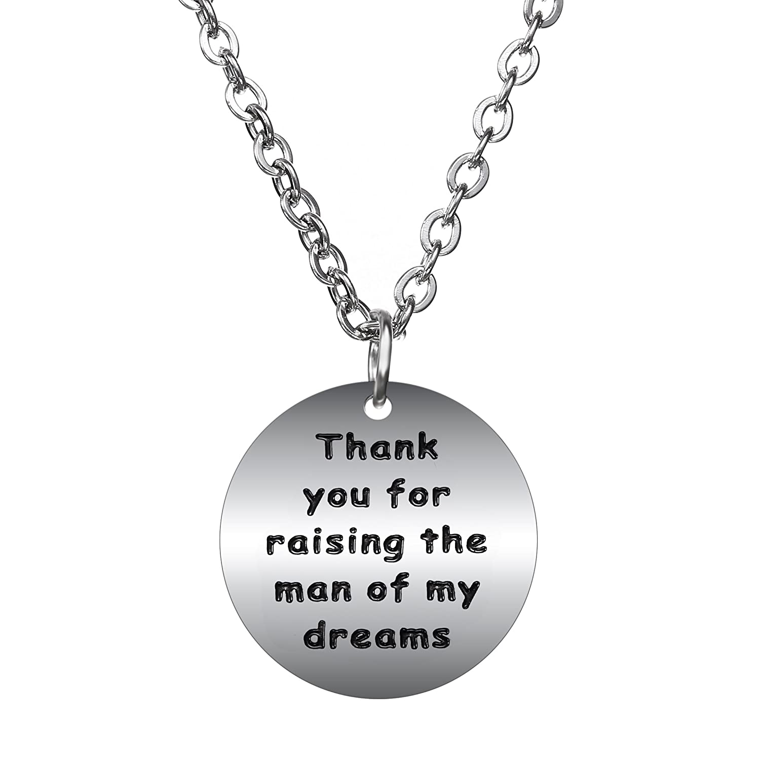 BESPMOSP Mother in Law/Father in Law Gifts Pendant Necklaces