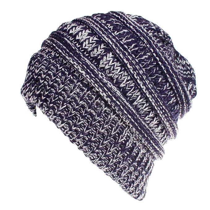 Uribaky Frauen Baggy Warm Häkeln Winter Wolle Stricken Ski Mütze