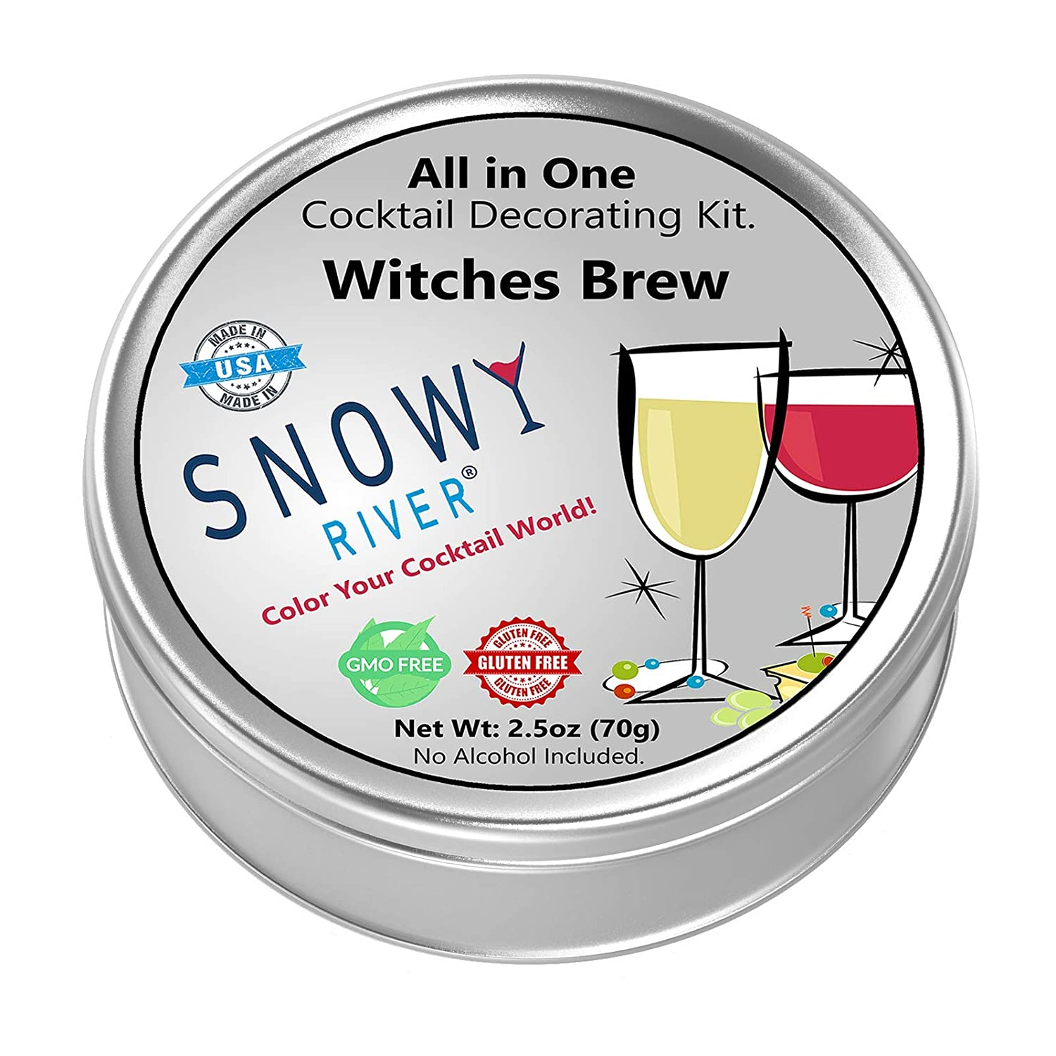Amazon Com Snowy River Witches Brew Cocktail Decorating Kit All Natural Cocktail Sugar And Cocktail Glitter Decorating Gift Pack With Recipe Card Grocery Gourmet Food