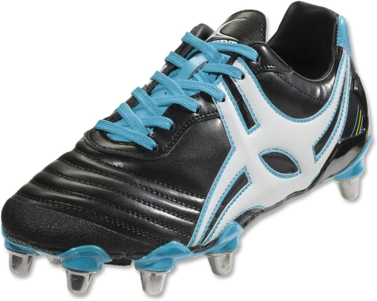 Amazon Com Gilbert Forwards Academy Men S Rugby Boot Black Blue Us9 Rugby