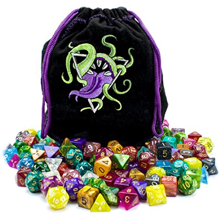 Wiz Dice Bag of Devouring: 140 Polyhedral Dice in 20 ...