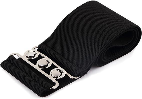 Woman Lady Girl Waist Elasticated Wide Fashion Buckle Waist Belt Fastening Retro