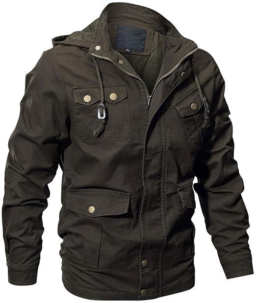 Amazon.com: chouyatou - Chaqueta de algodón con capucha para ...