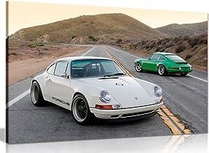 Porsche Singer 911 Canvas Wall Art Picture Print (30x20in)