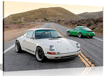 Porsche Singer 911 Canvas Wall Art Picture Print (36x24in)