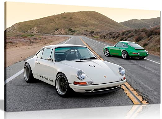 Amazon.com: Porsche Singer 911 Canvas Wall Art Picture Print (30x20in): Posters & Prints