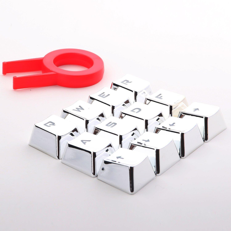 12 PBT doble inyección de tiro retroiluminada Keycaps para juegos mecánicos Teclados con llave extractor Blue Metal Color: Amazon.es: Electrónica