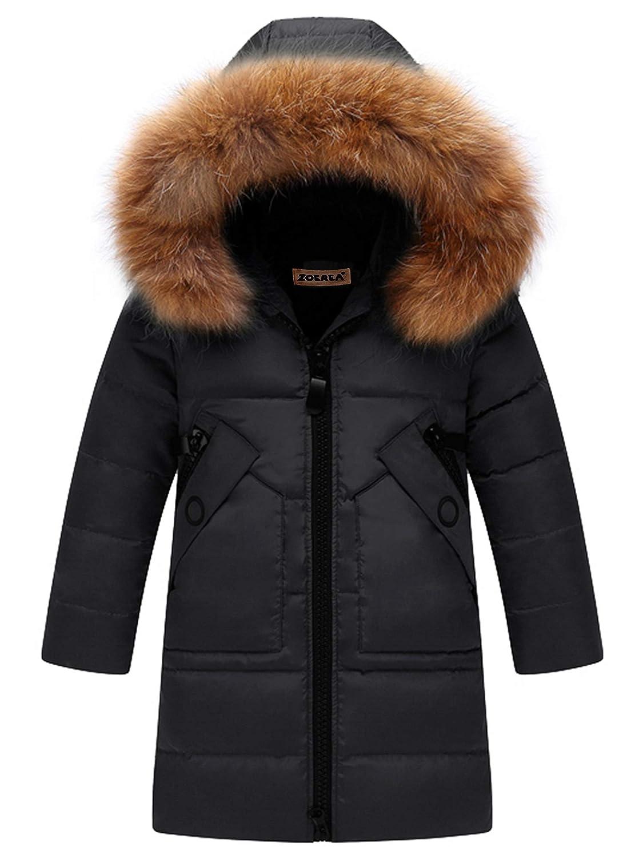 Zoerea Piumino Ragazza Bambino Invernale Parka Giacca Bambina Lungo Cappotto con Cappuccio Snowsuit per Bambini Z312