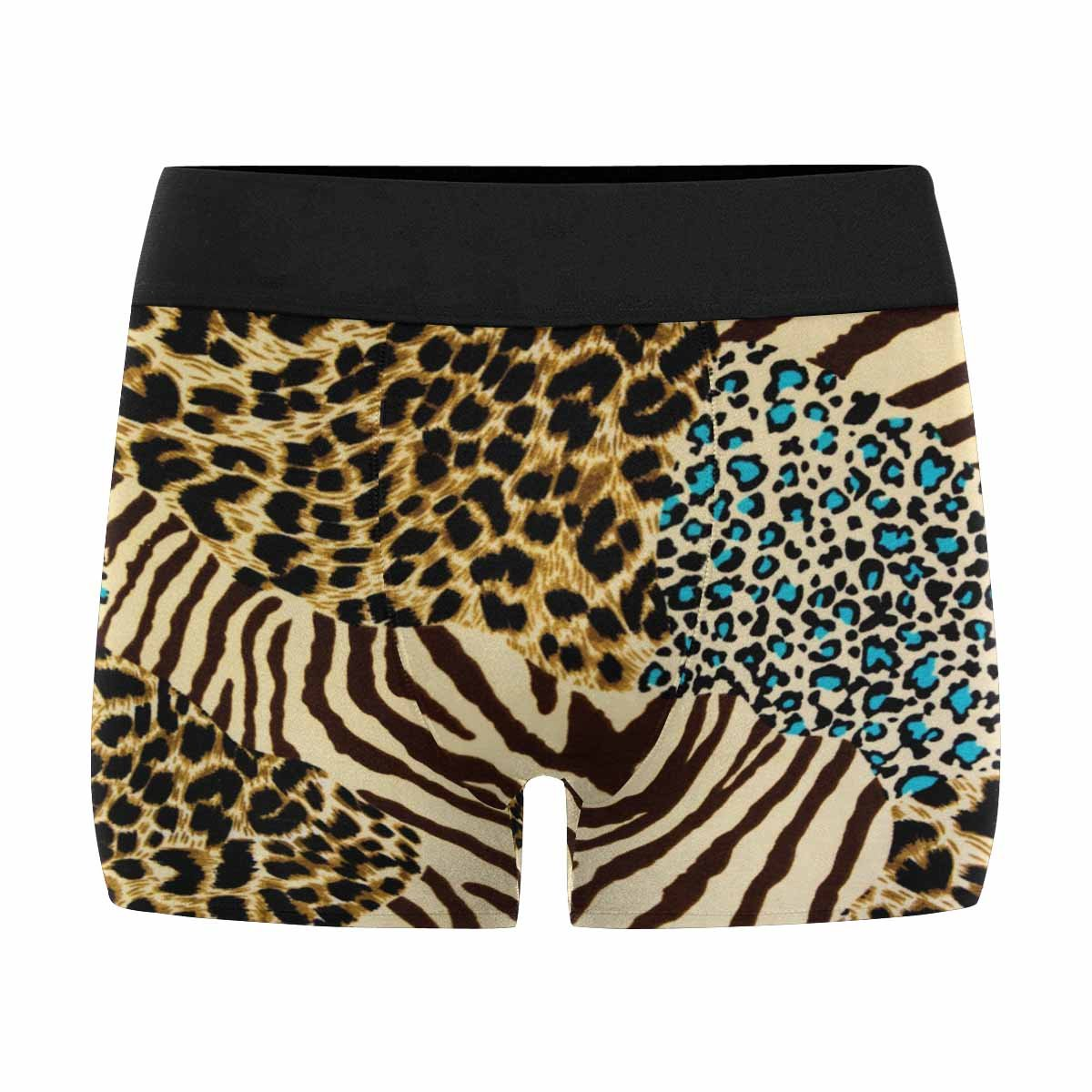 INTERESTPRINT Mens All-Over Print Boxer Briefs Tiger Prints and Zebra XS-3XL