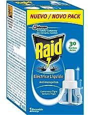 Raid - Liquido de recambio para Repelente de mosquitos electrico, 30 Noches - [pack de 3]