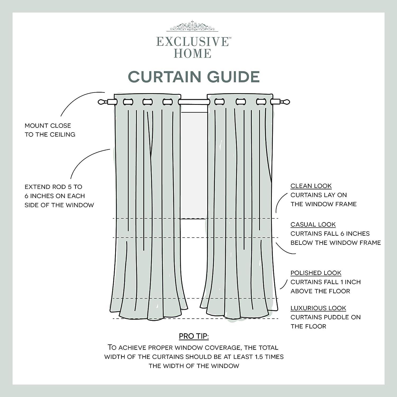 52/x 63 Chili Exclusive Home Tende Oxford Tessuto Rasatello Tenda Termica Oscurante Grommet Top Window Panel Pair