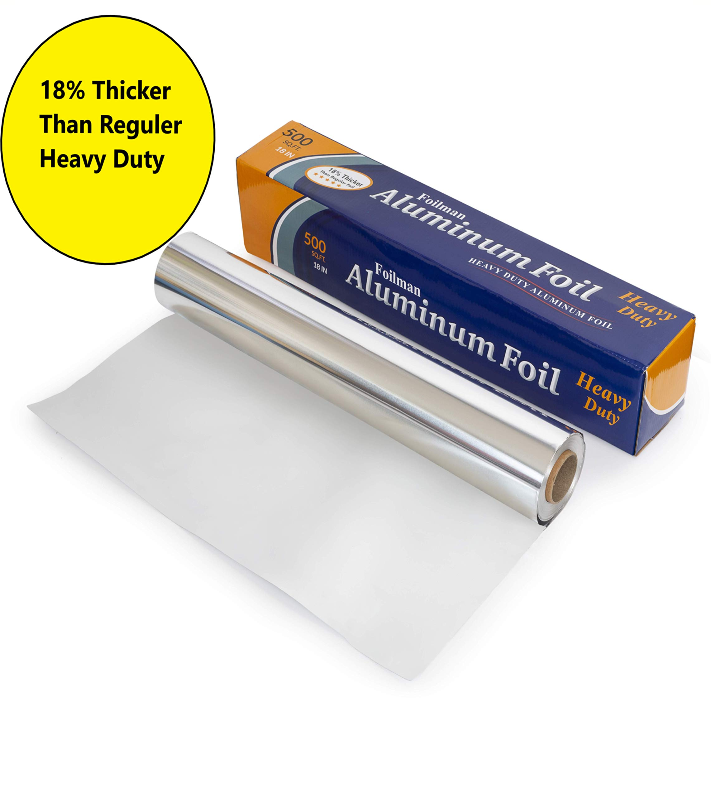 Ultra-Thick Commercial Heavy Duty Foil Roll 18'' inch x 500 SQ Foot