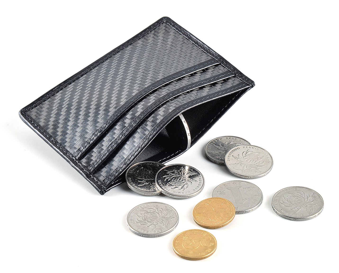 CL Carbonlife(TM) Carbon Fiber Credit Card Holder and Money Clip Wallet Simple