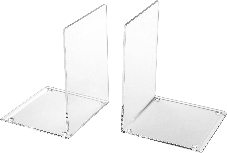 Huiouer Metal Hollow Desktop Organizer Bookends Book Ends Support Stand Holder Shelf Bookrack Home Office Supplies