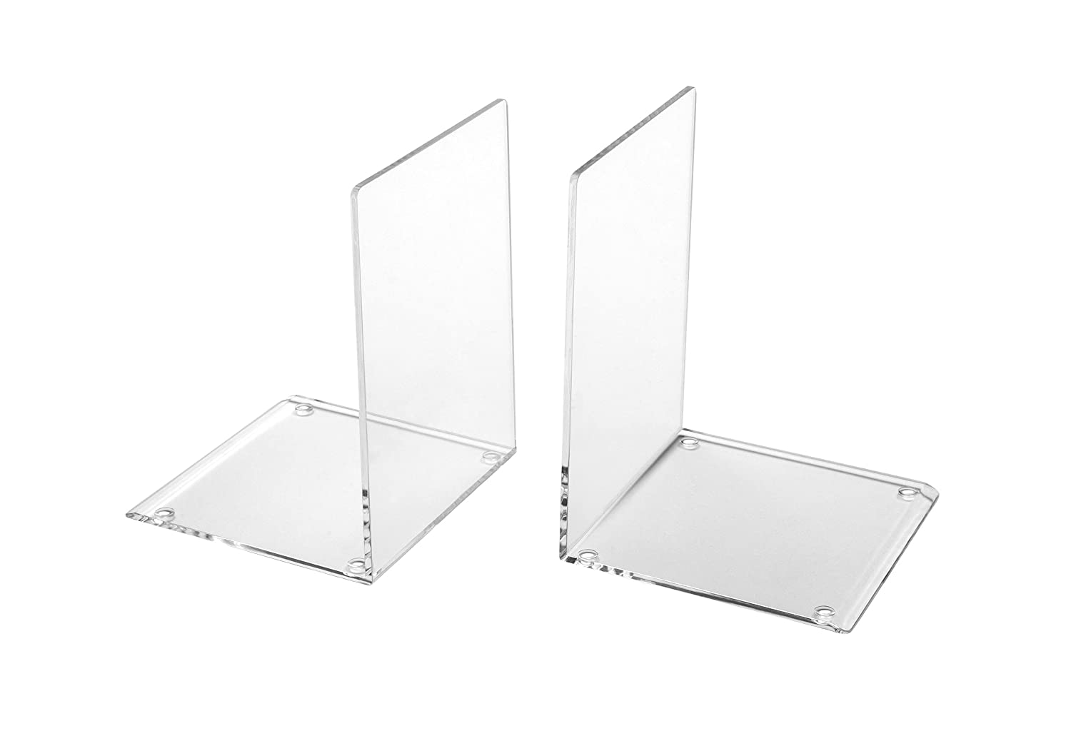Osco Large Acrylic Bookend - Clear (Pack of 2) Osco Europe ABE-3