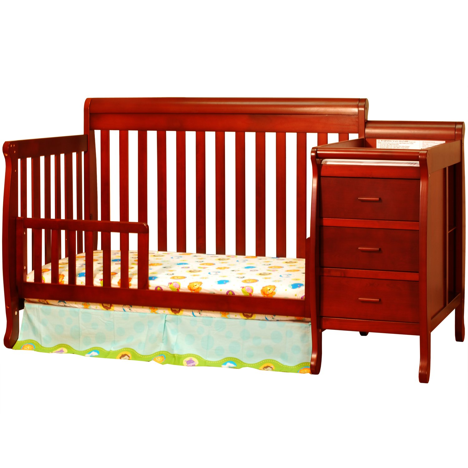 table with changing convertible oct best baby design the l safety deals shop for attached combo cribs crib