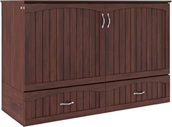 Atlantic Furniture Southampton Queen Murphy Bed Chest with Mattress