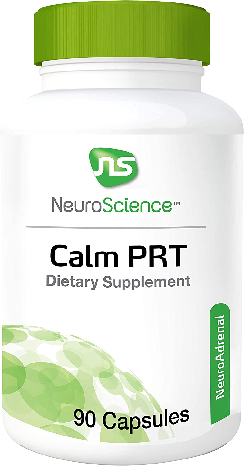 NeuroScience Calm PRT – Rhodiola Adrenal Support Complex for Sleep and Reducing Anxiousness, Cortisol Focused Blend 90 Capsules