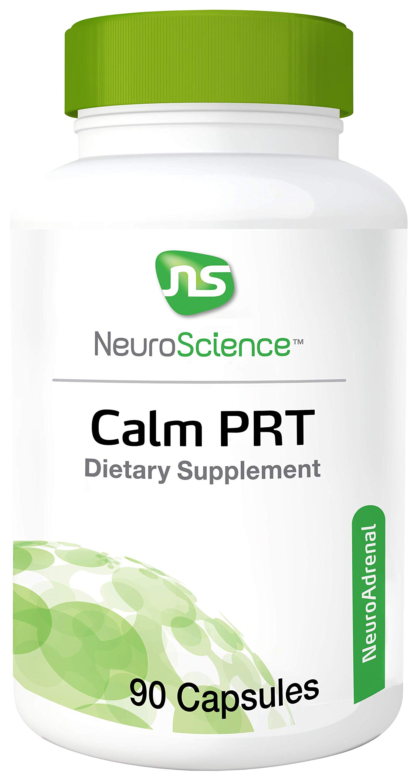 NeuroScience Calm PRT - Rhodiola Adrenal Support Complex for Sleep + Reducing Anxiousness, Cortisol Focused Blend (90 Capsules)