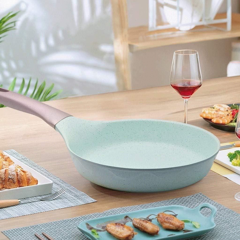LEZDPP De Cocina Utensilios de Cocina como el Jade Conjunto combinaci/ón de sart/én Antiadherente de Cuatro Piezas Wok Set Completo de Inicio