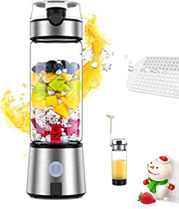 Portable Blender, Ayyie Personal Size Blender 4000mAh USB Rechargeable with 6 Blades for Shakes and Smoothies, Mini Blender with 15oz Juicer Cup for Outdoor Sports, Travel, Picnic