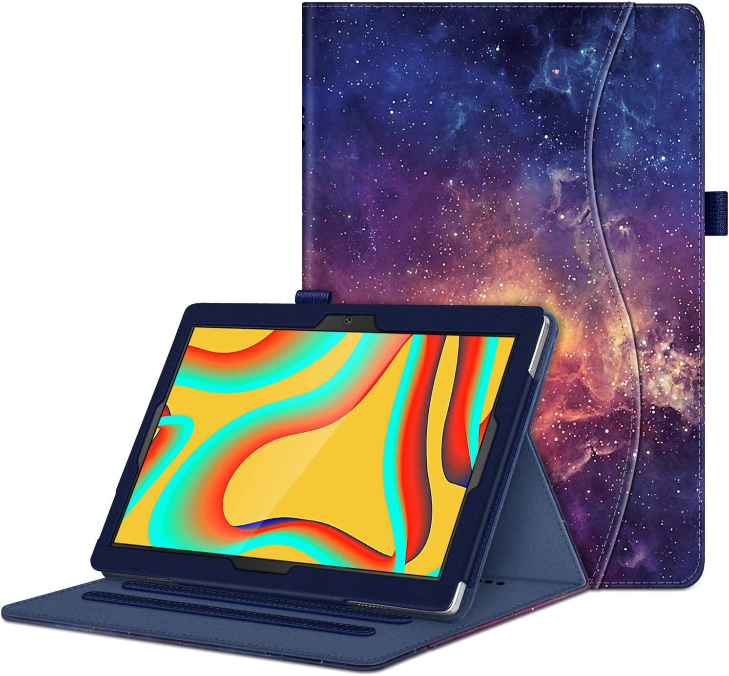 """Fintie Case for VANKYO MatrixPad S30 10 inch Tablet - [Hands Free] Multiple Angle Viewing Folio Smart Stand Cover with Pocket, Pencil Holder for MatrixPad S30 10.1"""" Android Tablet (Galaxy)"""