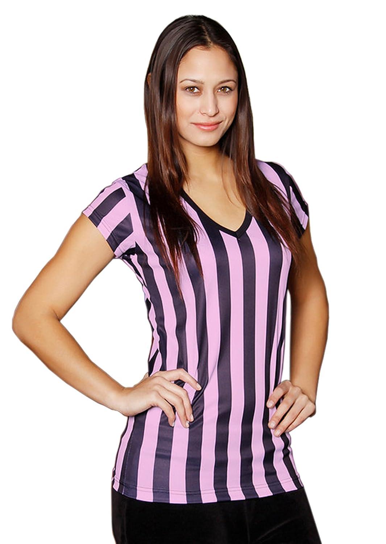 レディース レフェリーシャツ 快適 Vネック ウェイトレス レフェリー等 B011VLZJ8O Medium|6PK Black/Pink 6PK Black/Pink Medium