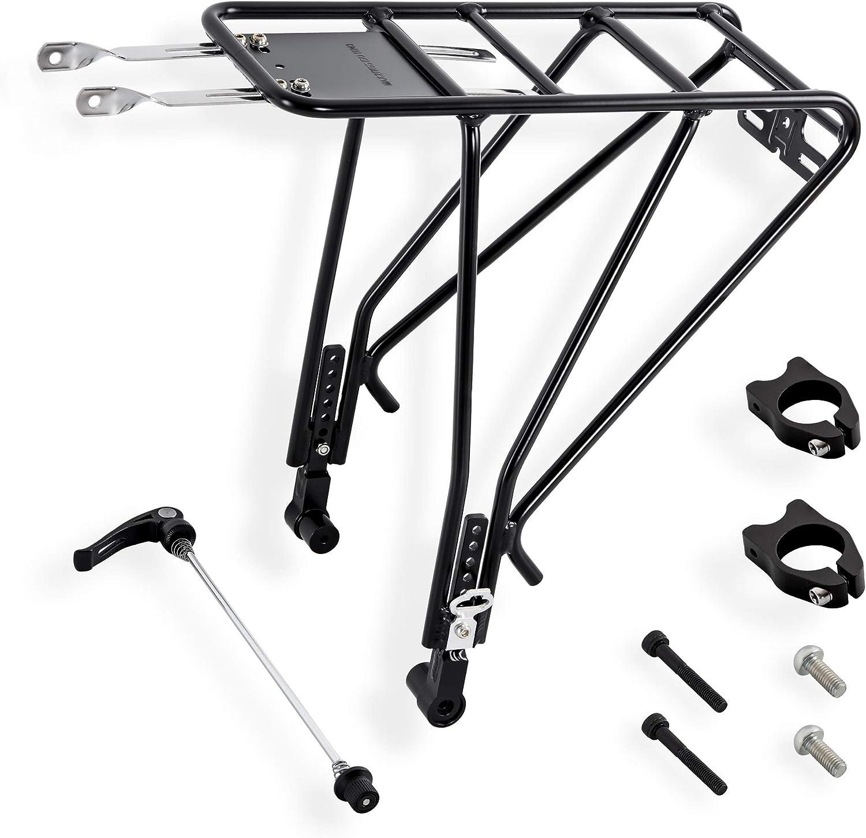Metal Heavy Bicycle Pannier Racks Fender Luggage Carrier Rear Seat W// Mount Tool