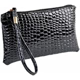 Bluester Women Crocodile Leather Clutch Handbag Bag Coin Purse Cheap