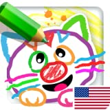 DRAWING FOR KIDS: ALL DRAWINGS COME TO LIFE! Babies learn to draw animals in Coloring & Baby Painting Games for kindergarten! Young children learning apps for Toddlers! Toddler Educational Game 4 preschoolers FREE under ages 2, 3, 5 Year Olds