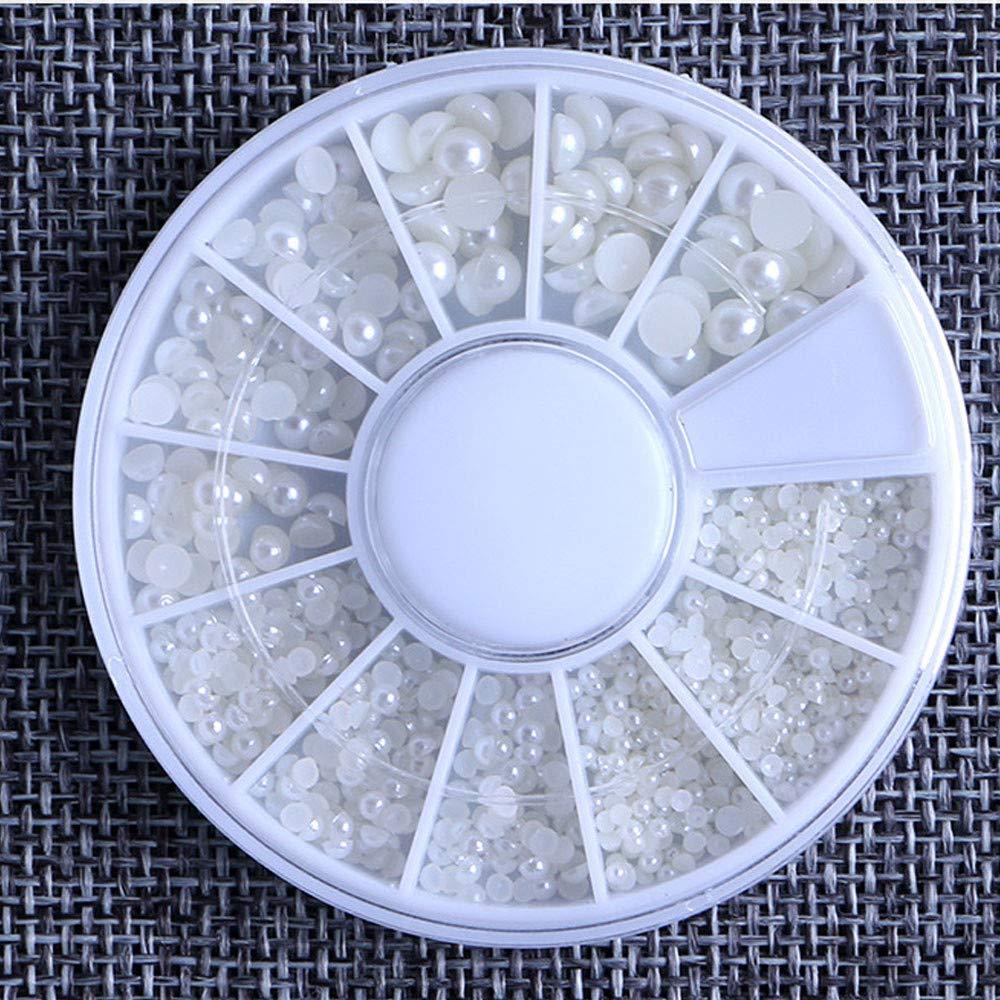Women's Nail Art Accessories Rhinestones Glitters Nail Pearl Size Mixing Manicure Drill C0912 B by DKjiaoso