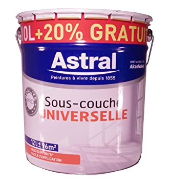 AkzoNobel 3X1YKKDX AS5076952 Astral Peinture Sous Couche Universelle 10 L +  20%