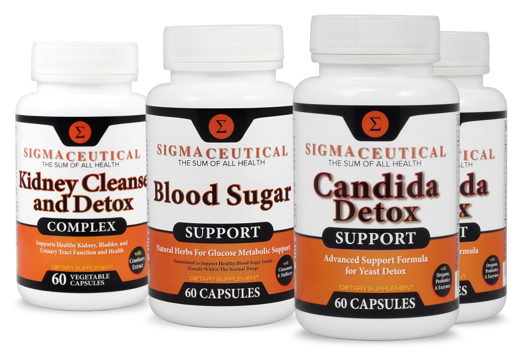 Chronic Yeast Infection Max Bundle Candida, Yeast & Thrush Treatment - Sugar & Kidney Support – 2 Month Supply