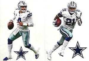 Dak Prescott and Ezekiel Elliott Mini FATHEAD Graphics + Cowboys Logo Official Vinyl Wall Graphics 7
