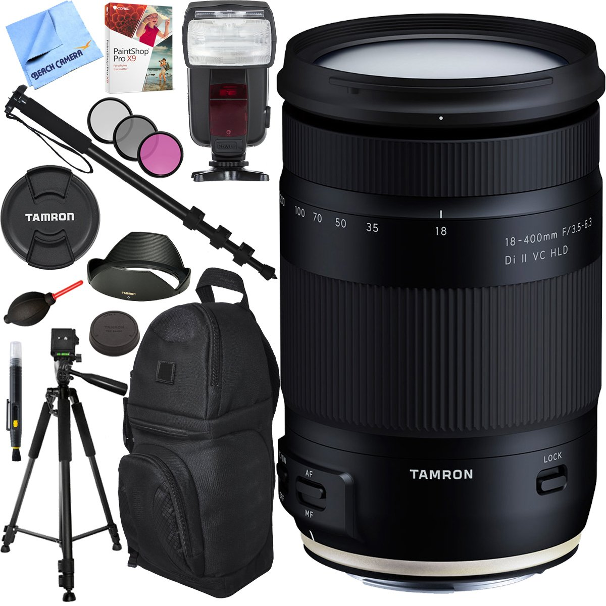 Tamron 18 400mm F 35 63 Di Ii Vc Hld All In One Zoom 200mm Iii Lens For Canon Ef M Mount With Pro Sling Backpack Plus Accessories Bundle Camera Photo