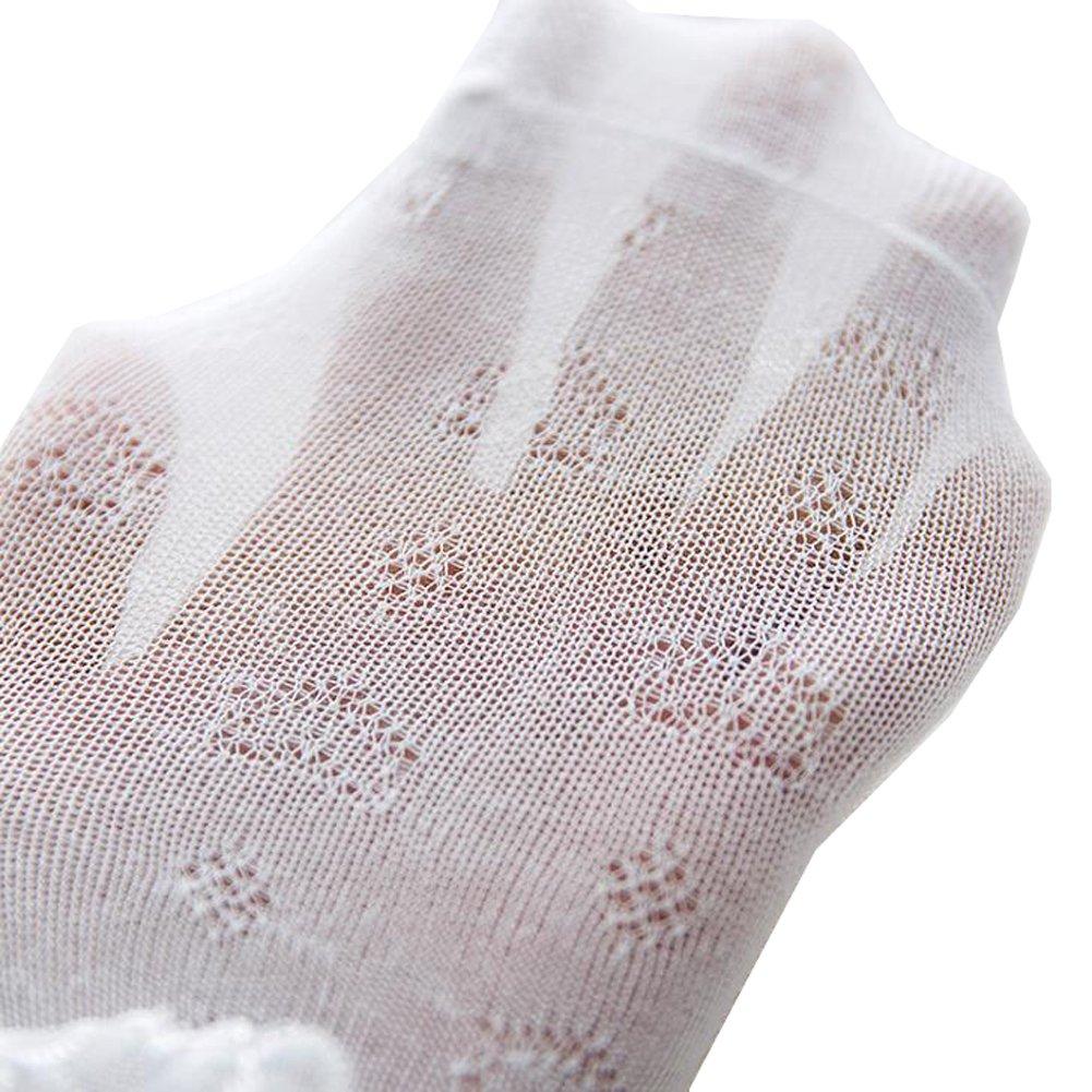 Sept.Filles Socks Girl's Socks Lace Top Anklet Socks Packs of 5 (S(0-2y), Pink5)