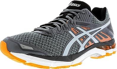 f69c9119ed84 ASICS Men s Gel-Lithium 2 Running Shoes Carbon Silver Grey Hot Orange Size